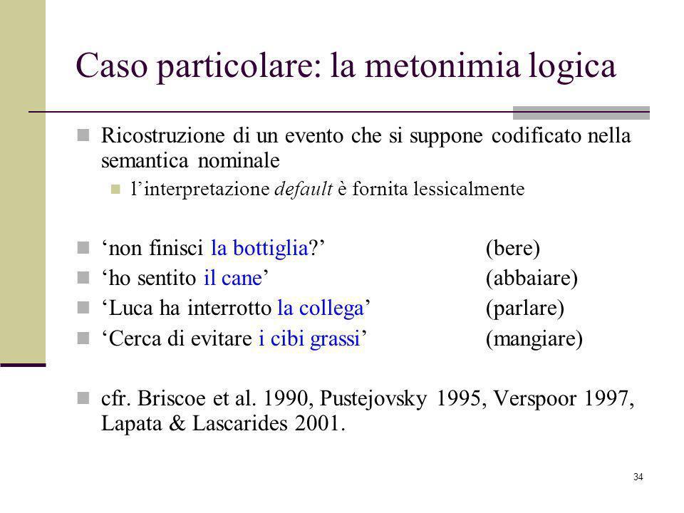 Caso particolare: la metonimia logica