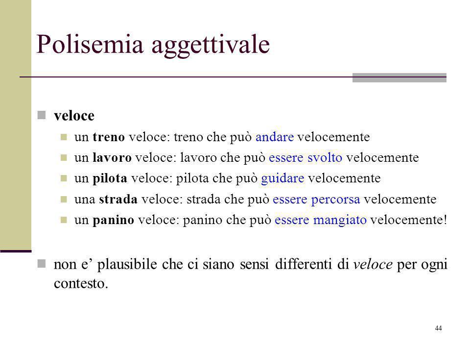 Polisemia aggettivale
