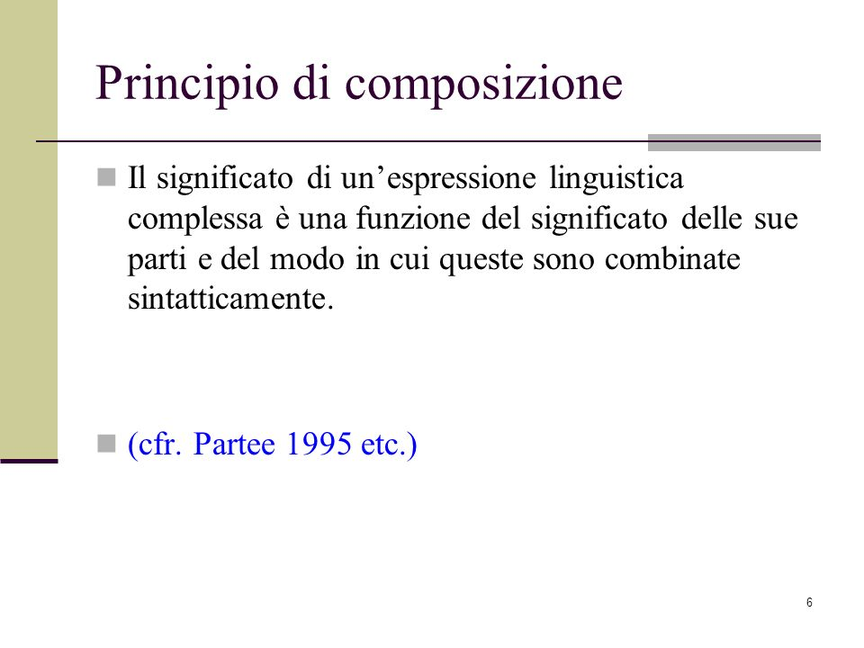 Principio di composizione