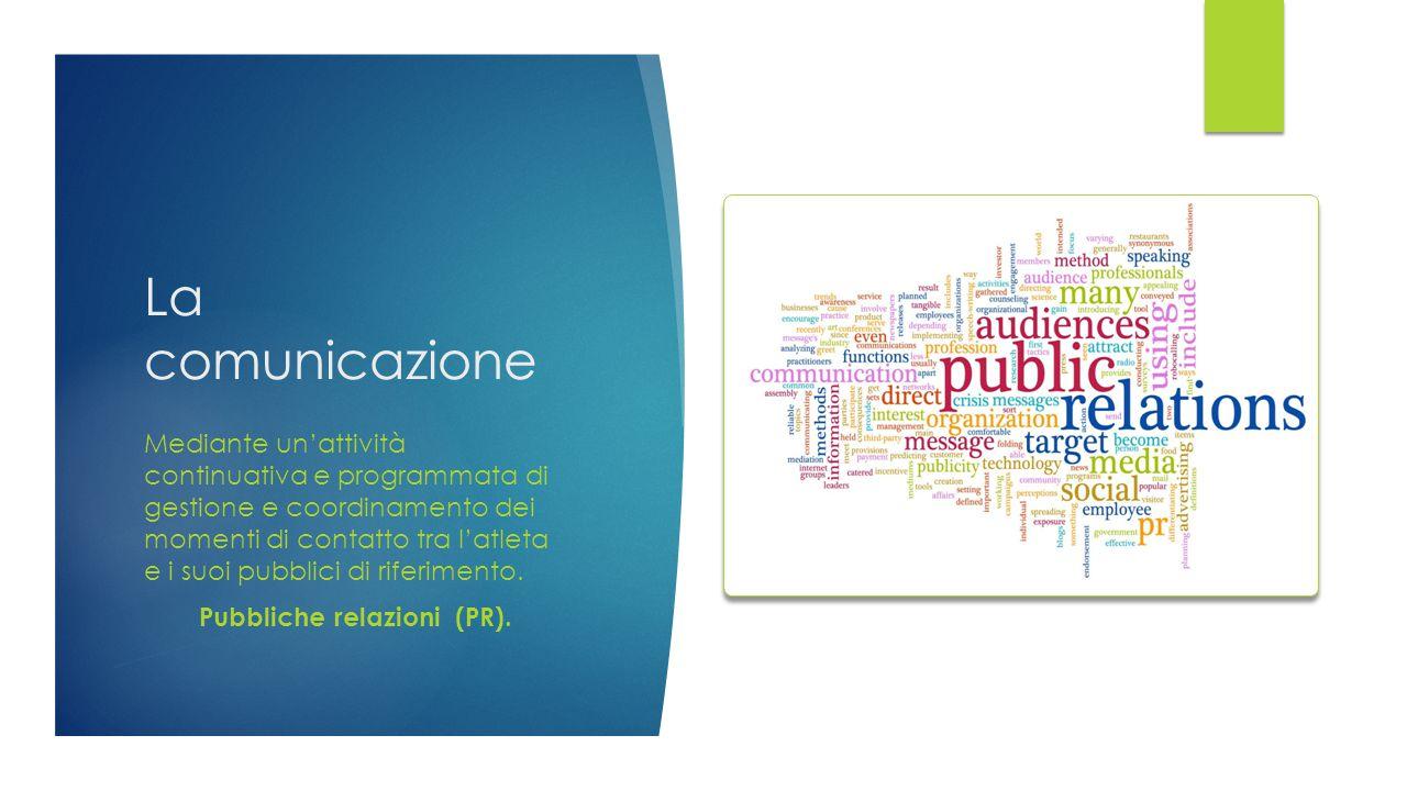 Pubbliche relazioni (PR).