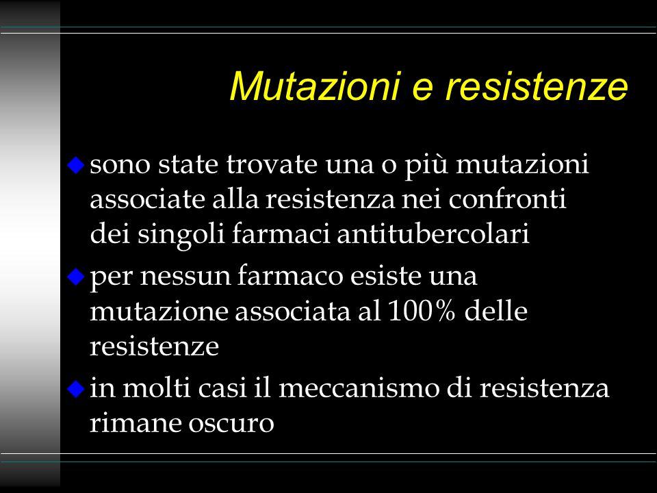 Mutazioni e resistenze