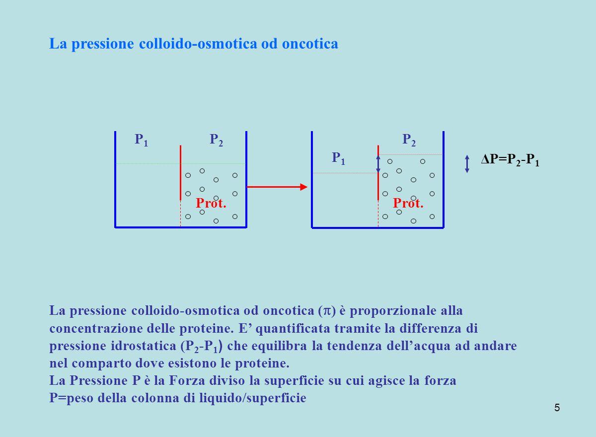 La pressione colloido-osmotica od oncotica