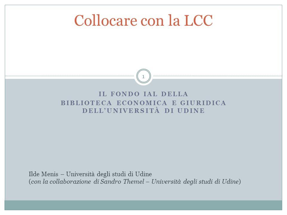 biblioteca economica e giuridica dell'università di udine