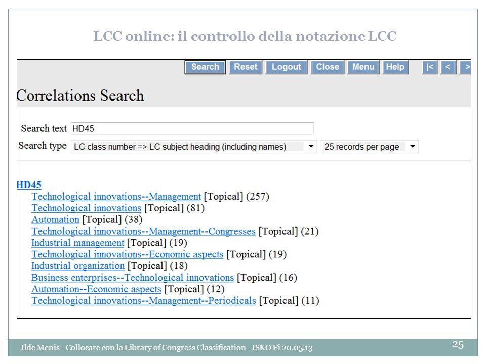 LCC online: il controllo della notazione LCC