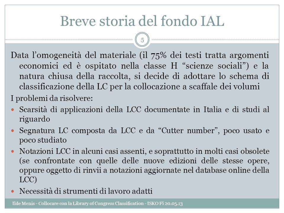 Breve storia del fondo IAL