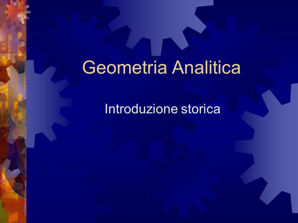Geometria Analitica Introduzione storica