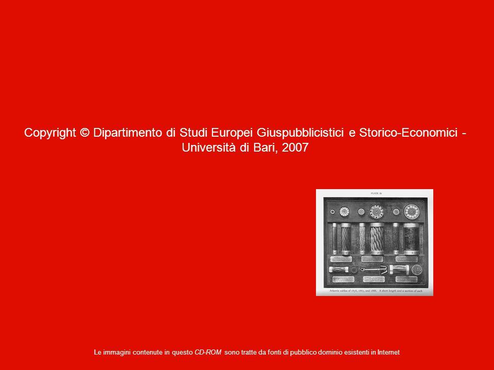 Copyright © Dipartimento di Studi Europei Giuspubblicistici e Storico-Economici - Università di Bari, 2007