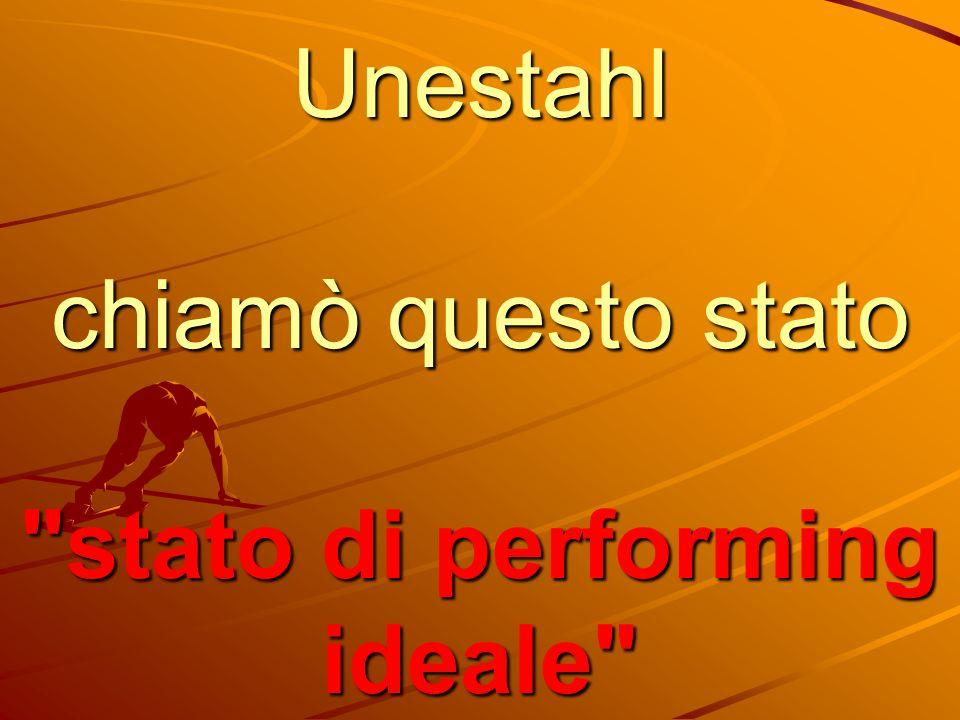 Unestahl chiamò questo stato stato di performing ideale