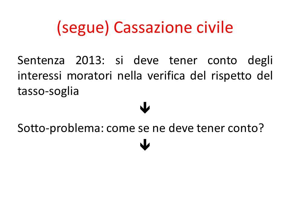 (segue) Cassazione civile