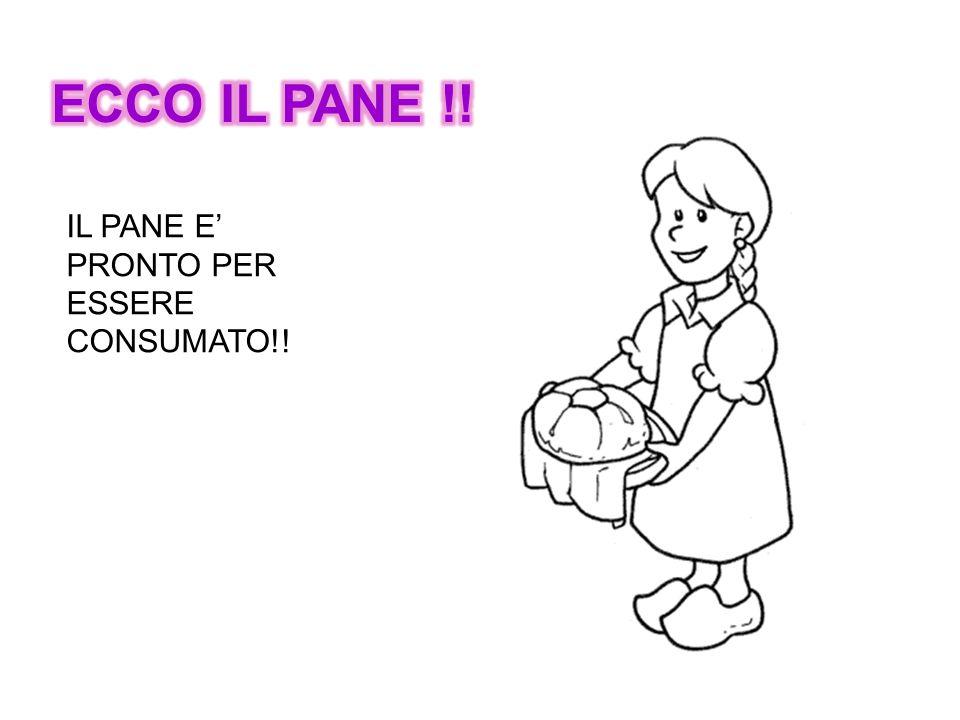 ECCO IL PANE !! IL PANE E' PRONTO PER ESSERE CONSUMATO!!