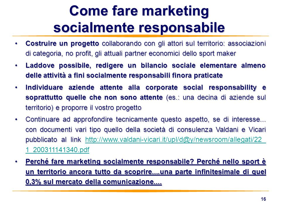 Come fare marketing socialmente responsabile