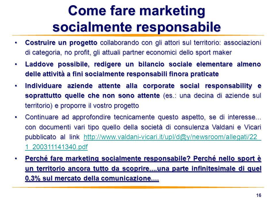 Come fare marketing socialmente responsabile