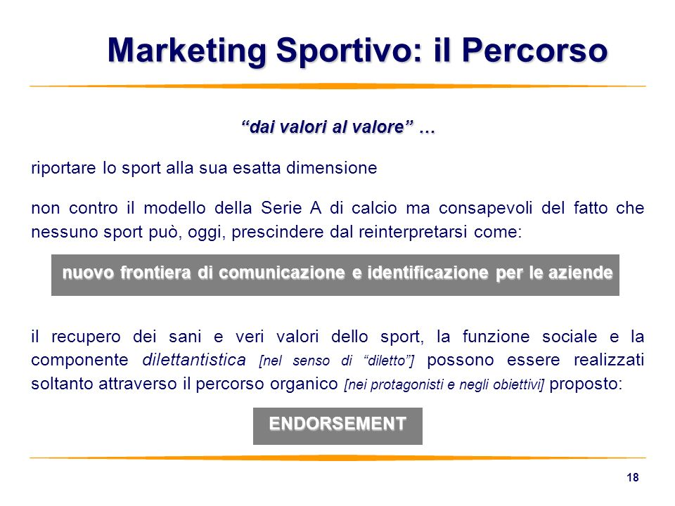 Marketing Sportivo: il Percorso