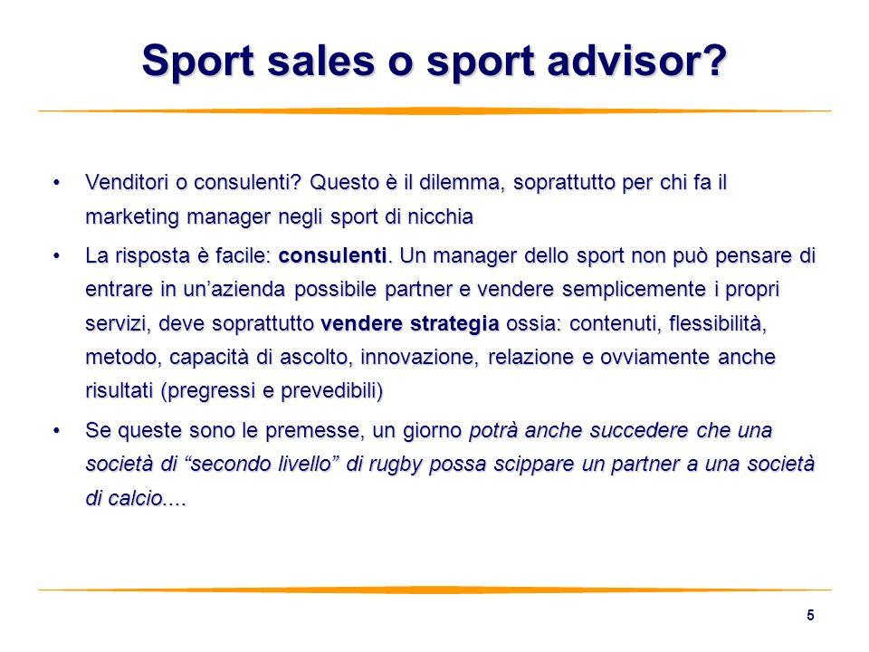 Sport sales o sport advisor