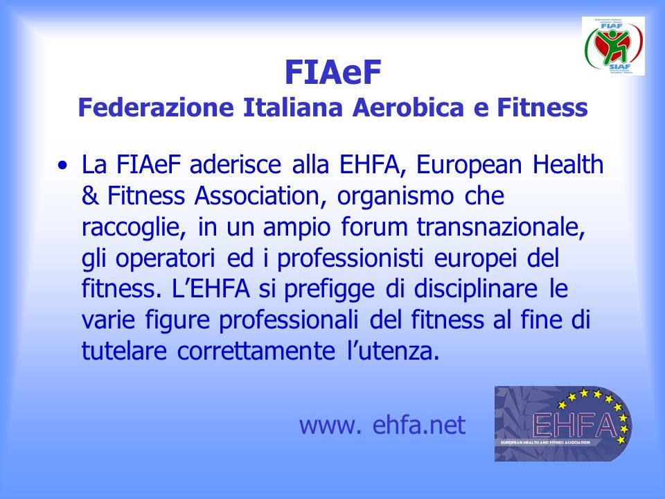 FIAeF Federazione Italiana Aerobica e Fitness