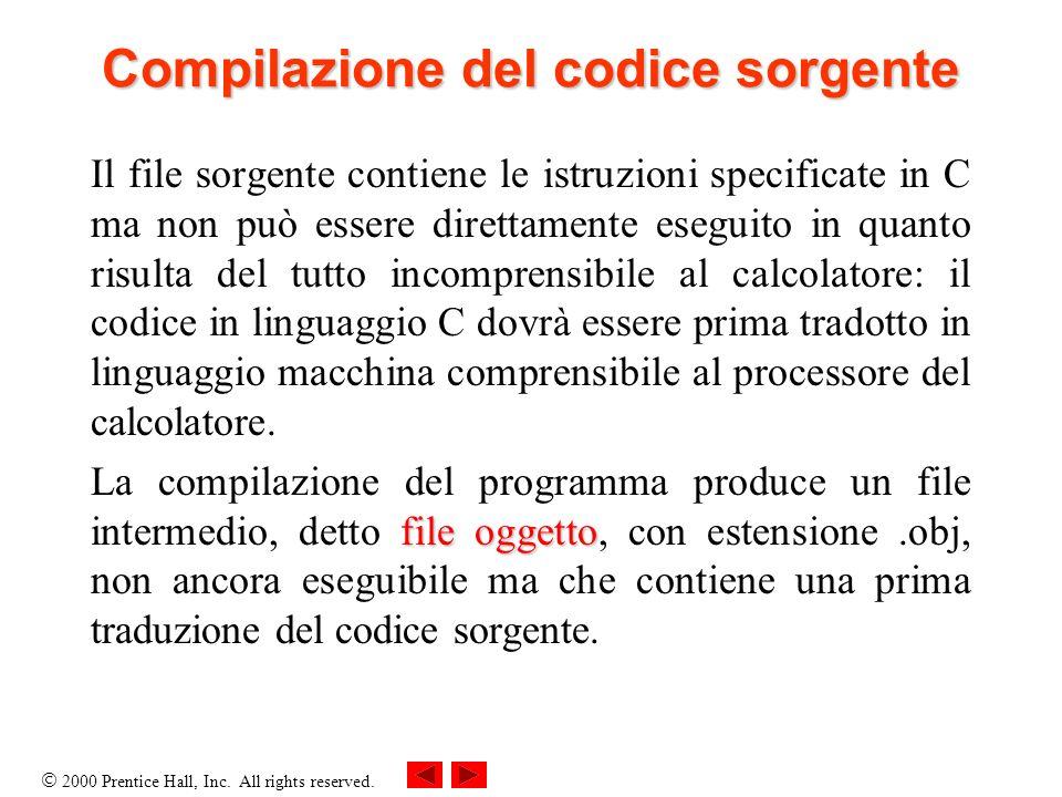 Compilazione del codice sorgente