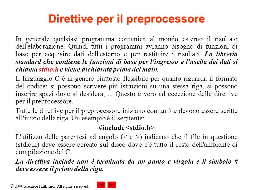 Direttive per il preprocessore