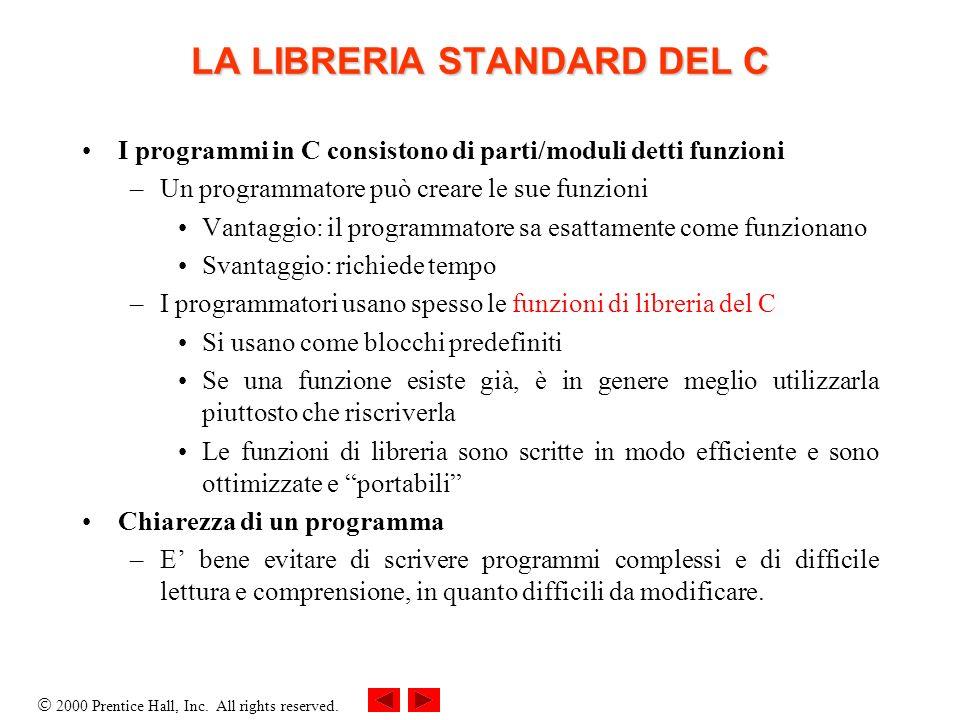 LA LIBRERIA STANDARD DEL C