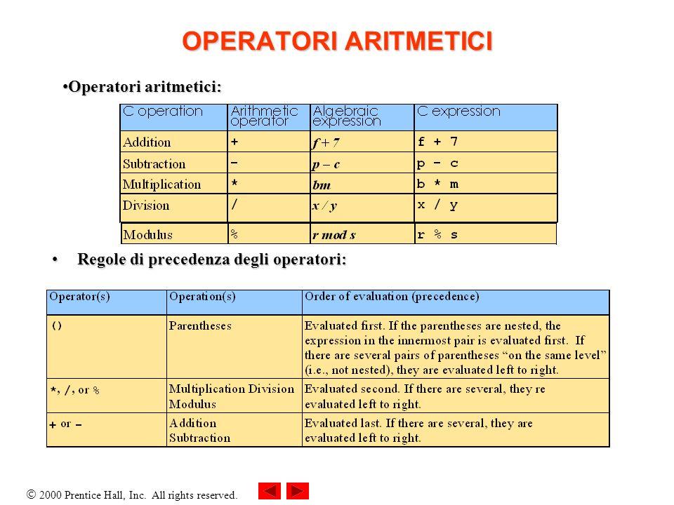 OPERATORI ARITMETICI Operatori aritmetici: