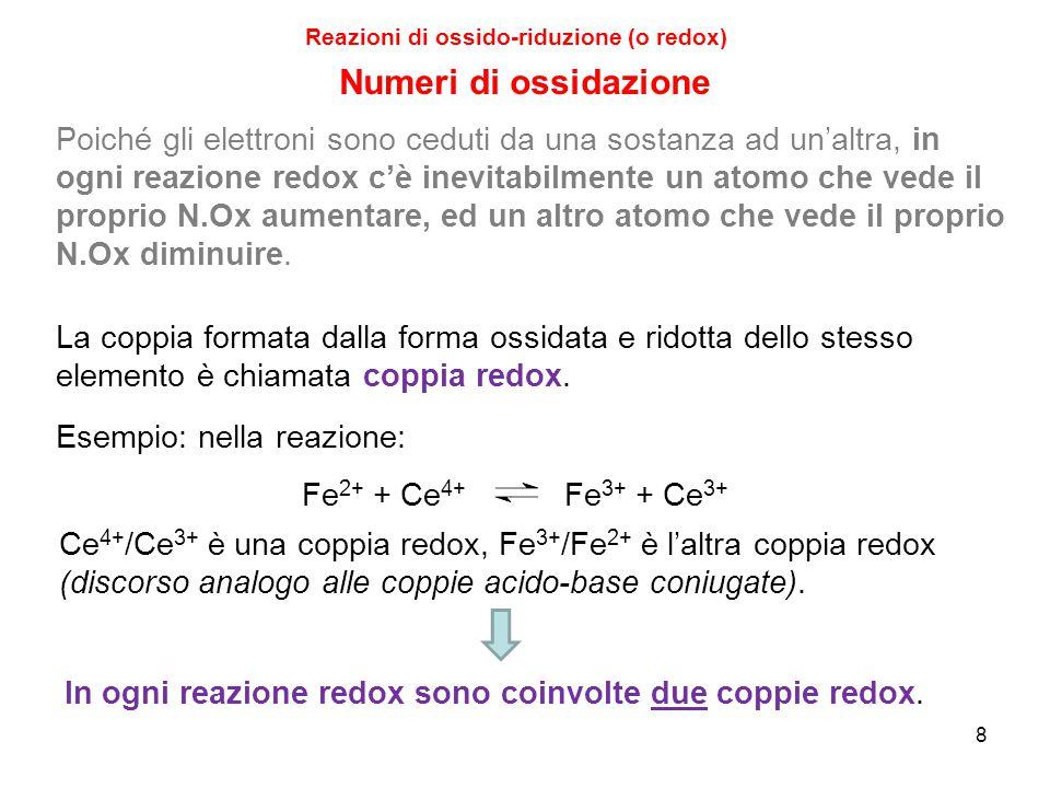 Reazioni di ossido-riduzione (o redox)