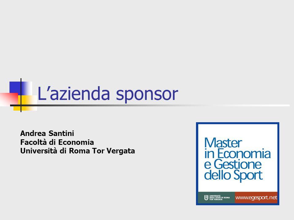 L'azienda sponsor Andrea Santini Facoltà di Economia