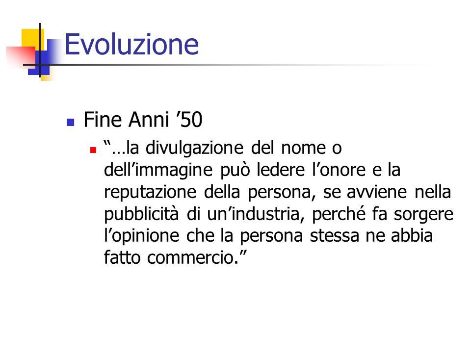 Evoluzione Fine Anni '50.