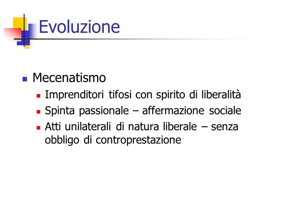 Evoluzione Mecenatismo Imprenditori tifosi con spirito di liberalità