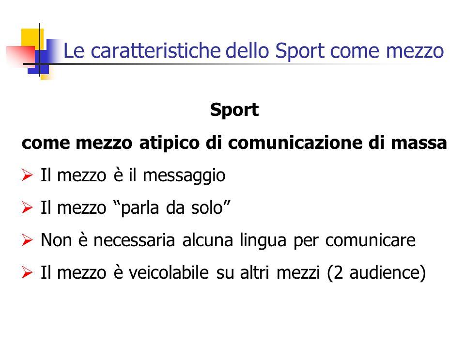 Le caratteristiche dello Sport come mezzo