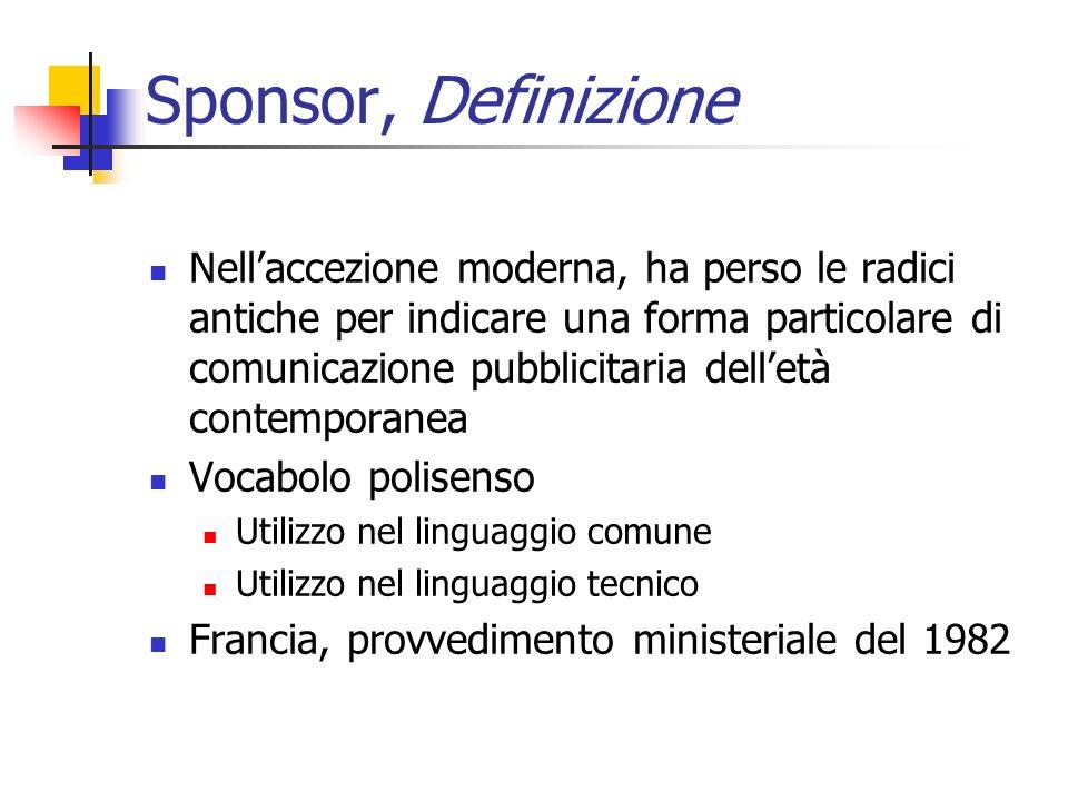 Sponsor, Definizione