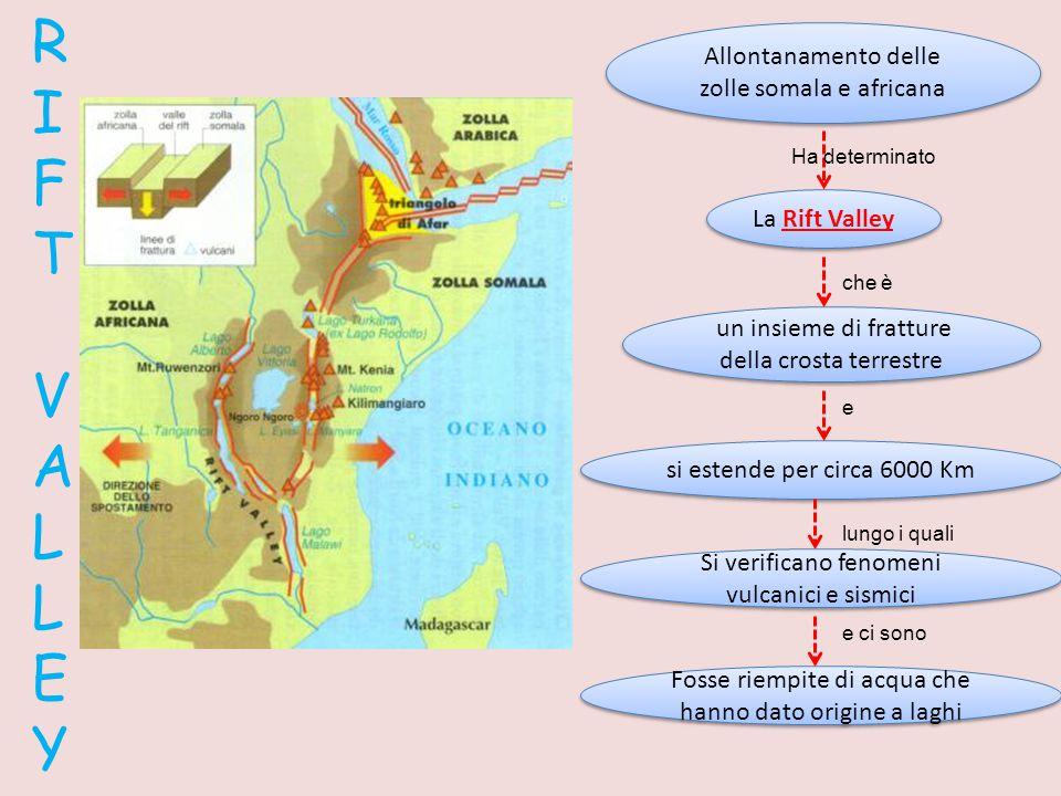 RIFT VALLEY Allontanamento delle zolle somala e africana