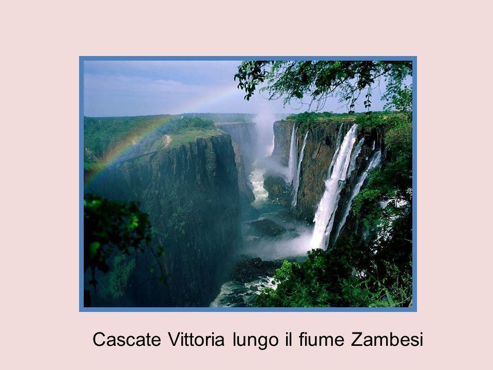 Cascate Vittoria lungo il fiume Zambesi