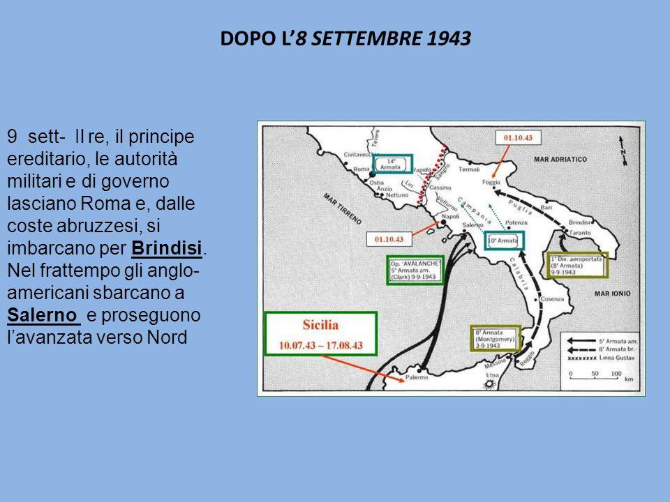 DOPO L'8 SETTEMBRE 1943