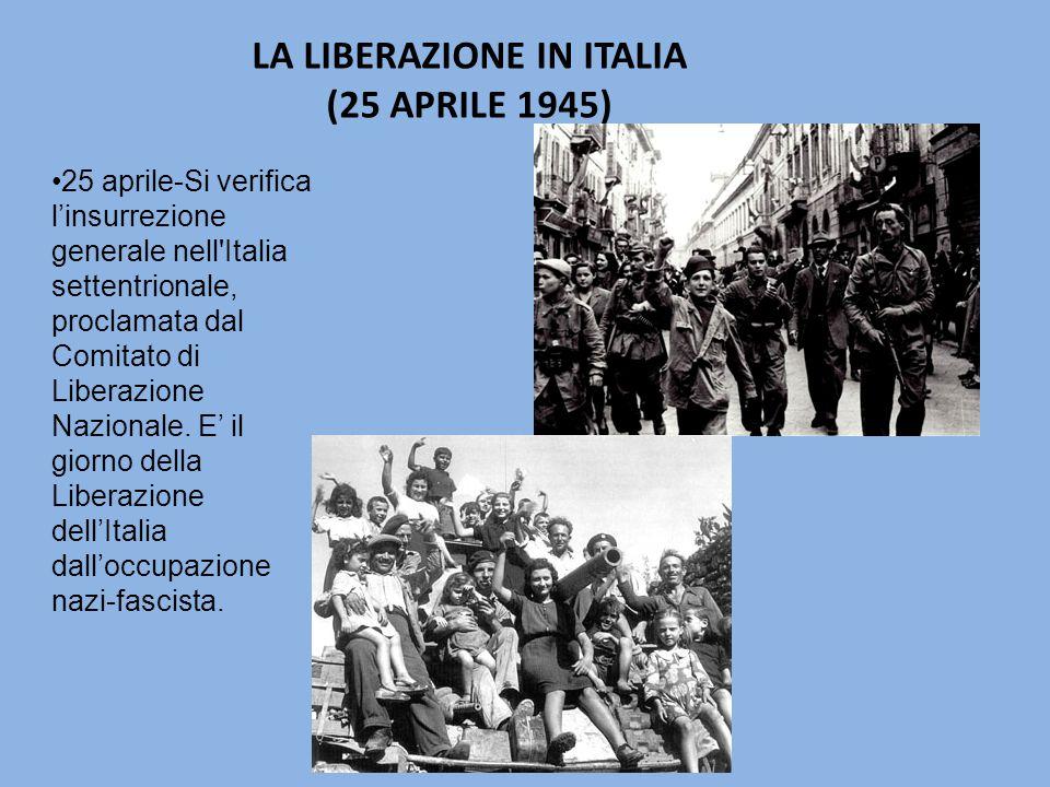 LA LIBERAZIONE IN ITALIA