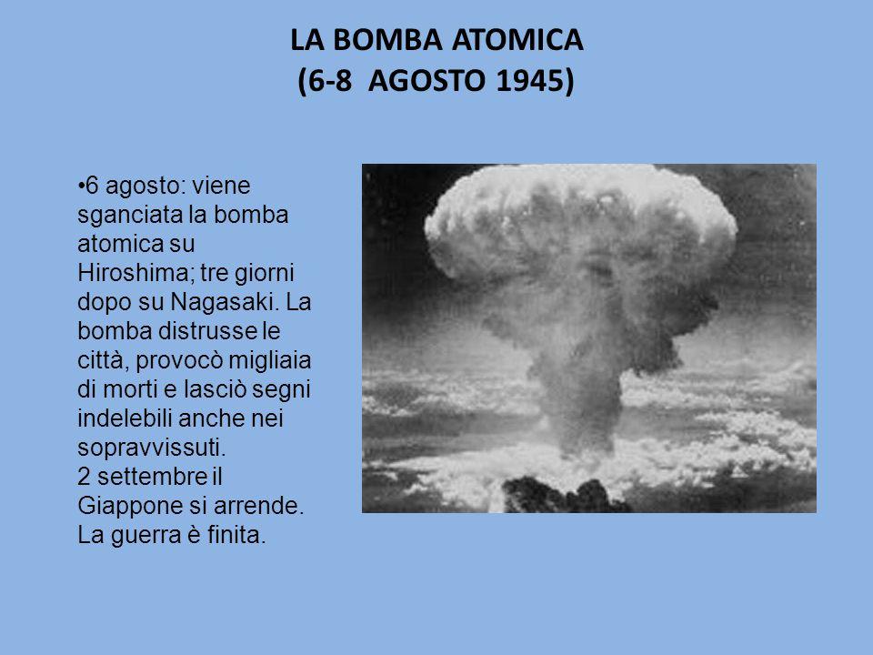 LA BOMBA ATOMICA (6-8 AGOSTO 1945)