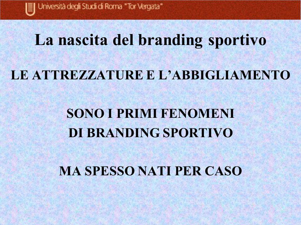 La nascita del branding sportivo
