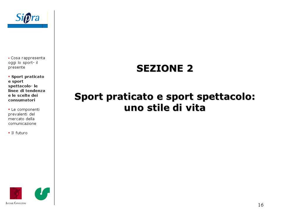 Sport praticato e sport spettacolo: