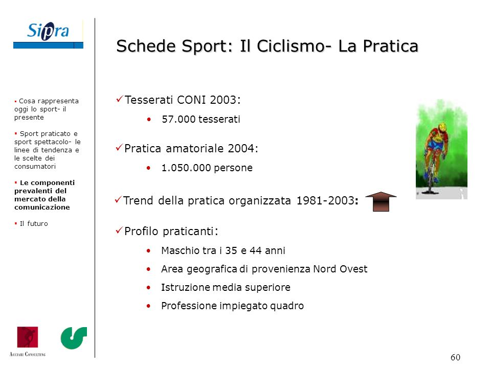 Schede Sport: Il Ciclismo- La Pratica