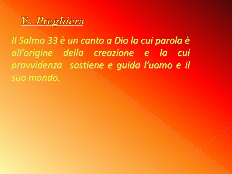E. Preghiera