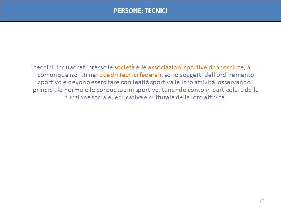 PERSONE: TECNICI