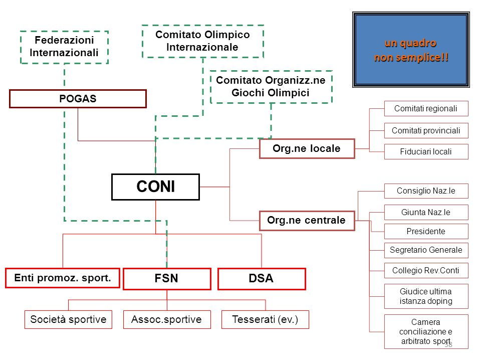 CONI un quadro non semplice!! FSN DSA Comitato Olimpico Internazionale