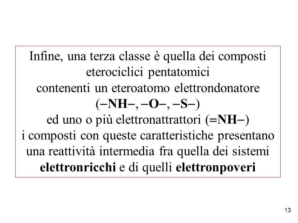 contenenti un eteroatomo elettrondonatore (-NH-, -O-, -S-)