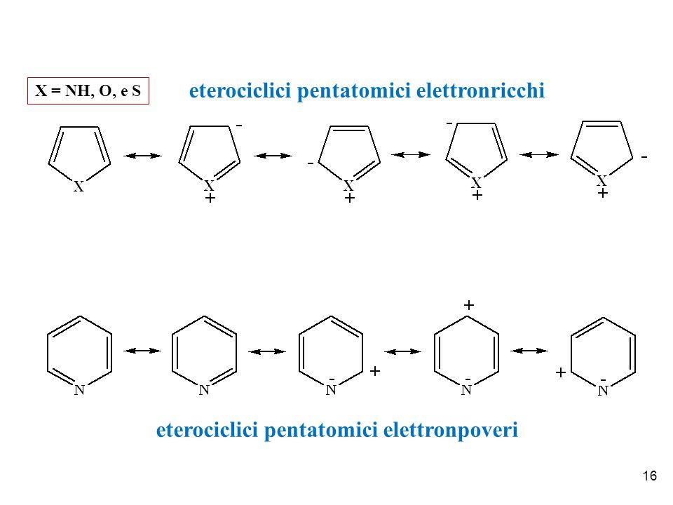eterociclici pentatomici elettronricchi