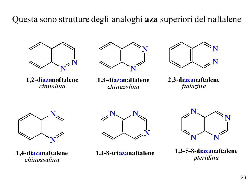Questa sono strutture degli analoghi aza superiori del naftalene