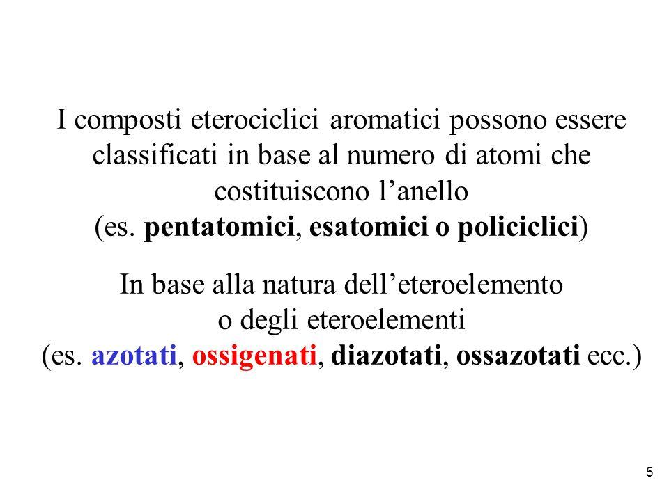 costituiscono l'anello (es. pentatomici, esatomici o policiclici)