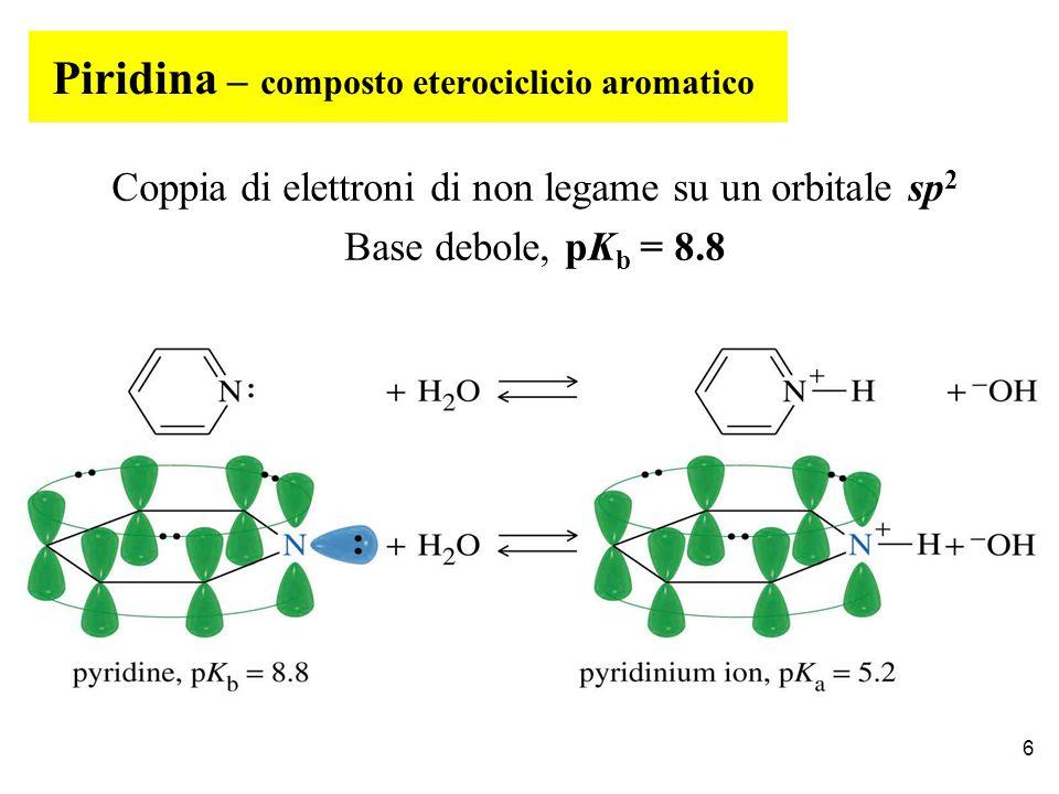 Piridina – composto eterociclicio aromatico