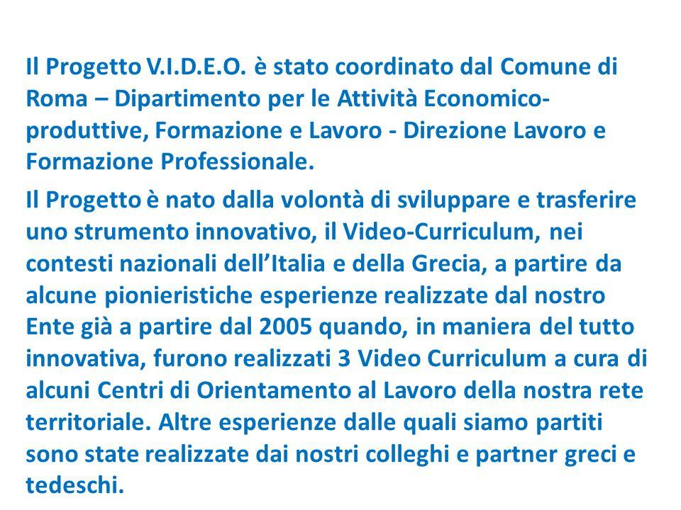 Il Progetto V.I.D.E.O.