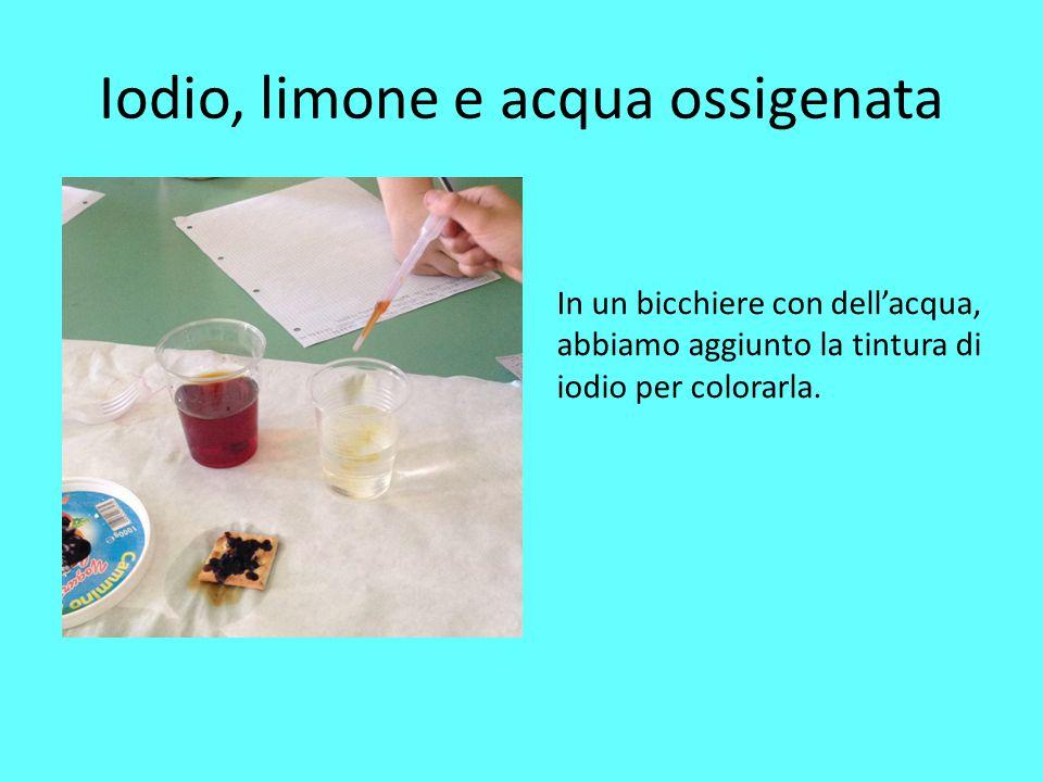 Iodio, limone e acqua ossigenata