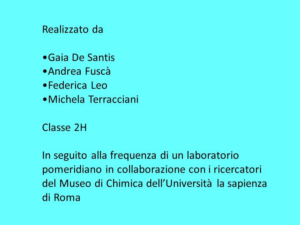 Realizzato da Gaia De Santis. Andrea Fuscà. Federica Leo. Michela Terracciani. Classe 2H.
