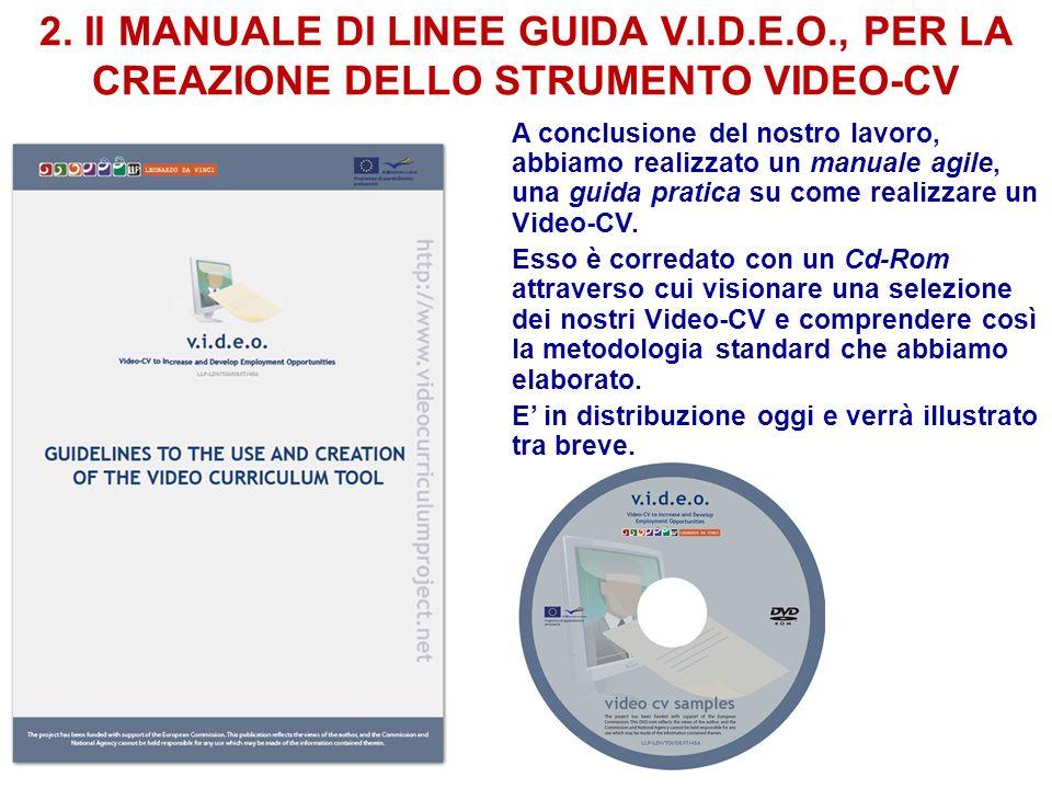2. Il MANUALE DI LINEE GUIDA V. I. D. E. O