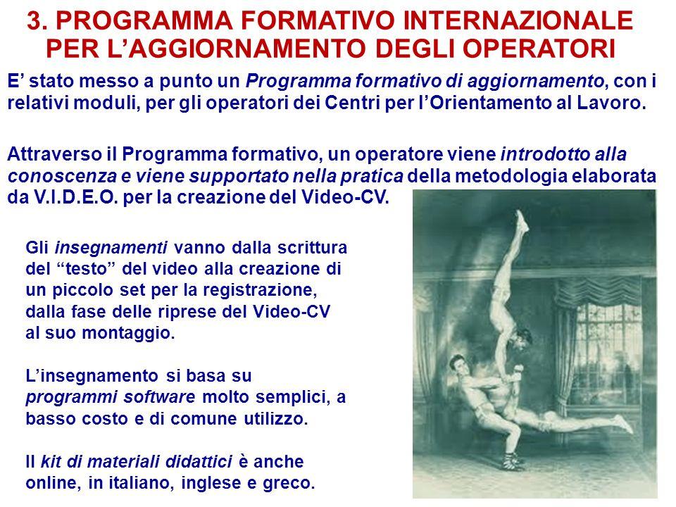 3. PROGRAMMA FORMATIVO INTERNAZIONALE PER L'AGGIORNAMENTO DEGLI OPERATORI